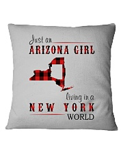 JUST AN ARIZONA GIRL IN A NEW YORK WORLD Square Pillowcase thumbnail
