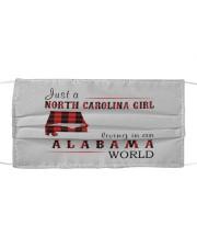JUST A NORTH CAROLINA GIRL IN AN ALABAMA WORLD Cloth face mask thumbnail