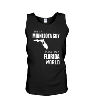 JUST A MINNESOTA GUY IN A FLORIDA WORLD Unisex Tank tile