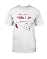 CALIFORNIA SOUTH CAROLINA THE LOVE FATHER AND SON Classic T-Shirt thumbnail