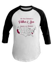 CALIFORNIA SOUTH CAROLINA THE LOVE FATHER AND SON Baseball Tee thumbnail