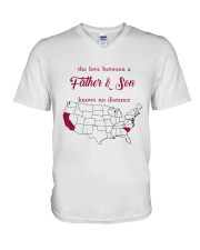 CALIFORNIA SOUTH CAROLINA THE LOVE FATHER AND SON V-Neck T-Shirt thumbnail