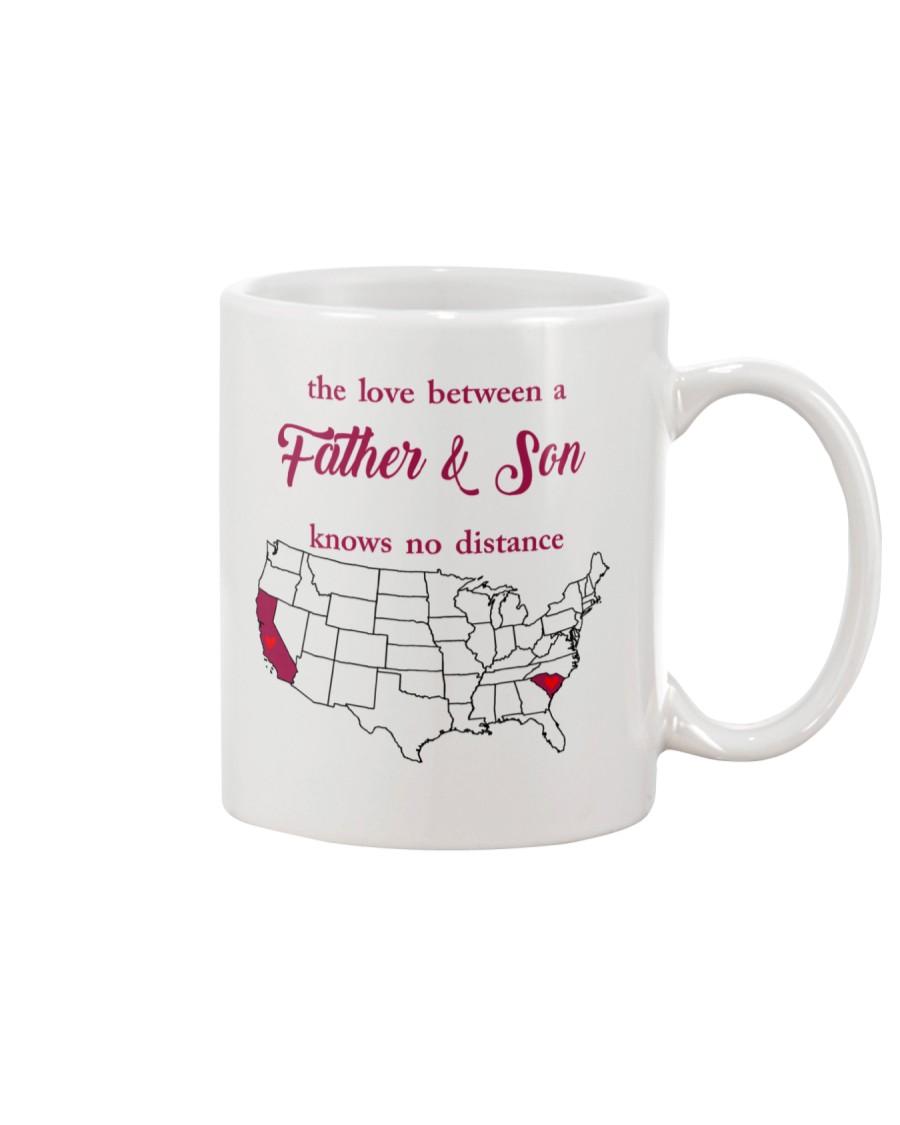 CALIFORNIA SOUTH CAROLINA THE LOVE FATHER AND SON Mug