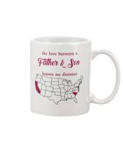 CALIFORNIA SOUTH CAROLINA THE LOVE FATHER AND SON Mug front