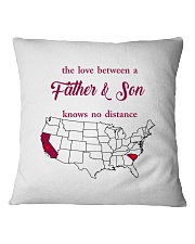CALIFORNIA SOUTH CAROLINA THE LOVE FATHER AND SON Square Pillowcase thumbnail