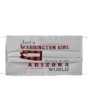 JUST A WASHINGTON GIRL IN AN ARIZONA WORLD Cloth face mask thumbnail