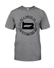 TENNESSEE GIRL LIVING IN PENNSYLVANIA WORLD Classic T-Shirt thumbnail