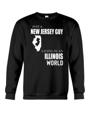 JUST A NEW JERSEY GUY IN AN ILLINOIS WORLD Crewneck Sweatshirt thumbnail