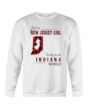 JUST A NEW JERSEY GIRL IN AN INDIANA WORLD Crewneck Sweatshirt thumbnail