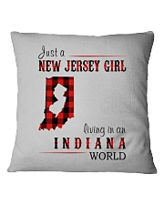 JUST A NEW JERSEY GIRL IN AN INDIANA WORLD Square Pillowcase thumbnail