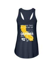 YOU CAN'T TAKE CALIFORNIA OUT OF THE GIRL Ladies Flowy Tank tile