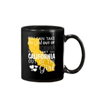 YOU CAN'T TAKE CALIFORNIA OUT OF THE GIRL Mug tile