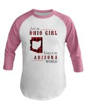 JUST AN OHIO GIRL IN AN ARIZONA WORLD Baseball Tee thumbnail