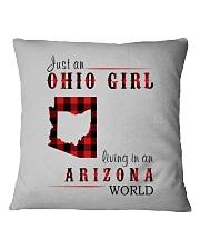 JUST AN OHIO GIRL IN AN ARIZONA WORLD Square Pillowcase thumbnail