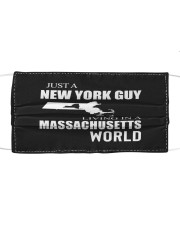 JUST A NEW YORK GUY IN A MASSACHUSETTS WORLD Cloth face mask thumbnail