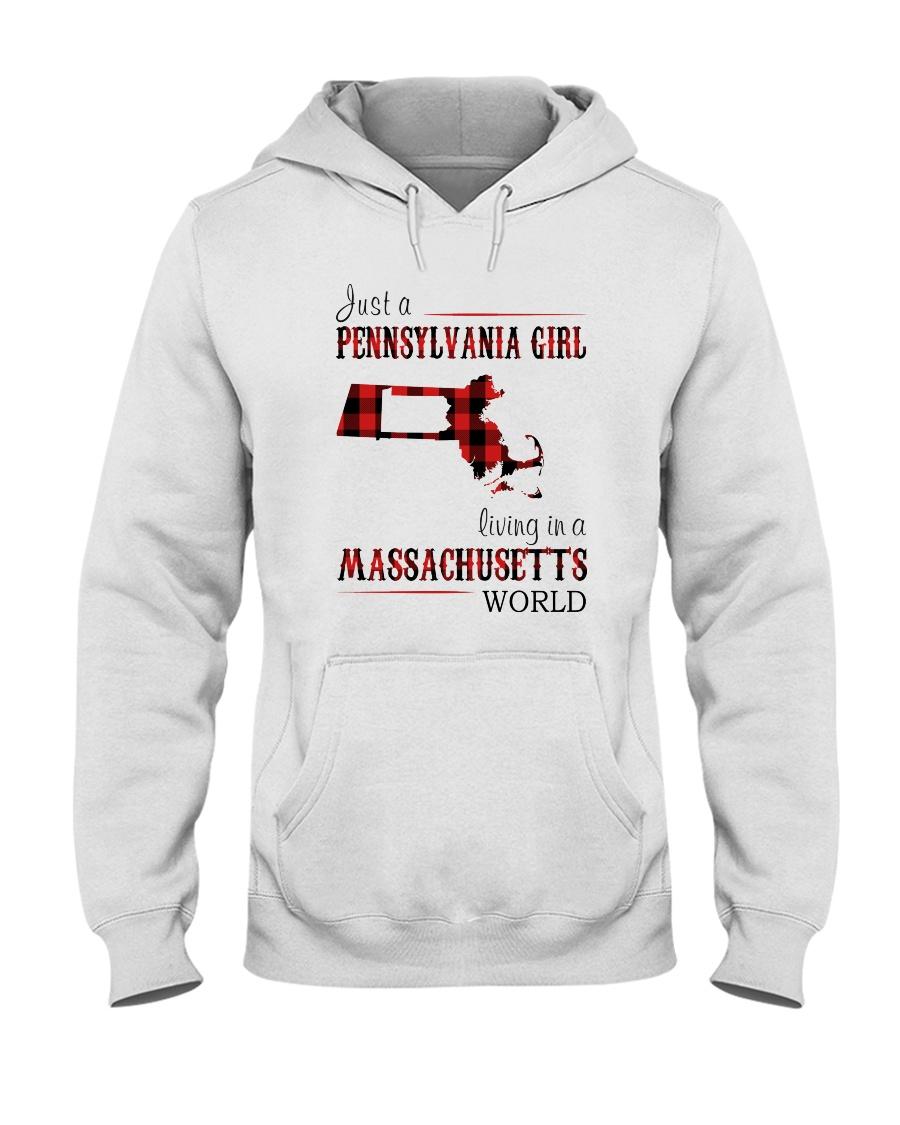 JUST A PENNSYLVANIA GIRL IN A MASSACHUSETTS WORLD Hooded Sweatshirt