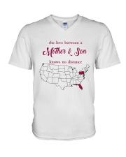 FLORIDA PENNSYLVANIA THE LOVE MOTHER AND SON V-Neck T-Shirt thumbnail