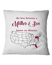 FLORIDA PENNSYLVANIA THE LOVE MOTHER AND SON Square Pillowcase thumbnail