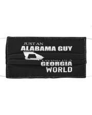 JUST AN ALABAMA GUY IN A GEORGIA WORLD Cloth face mask thumbnail