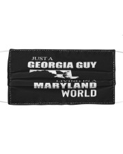 JUST A GEORGIA GUY IN A MARYLAND WORLD Cloth face mask thumbnail
