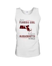 JUST A FLORIDA GIRL IN A MASSACHUSETTS WORLD Unisex Tank thumbnail
