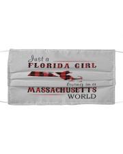 JUST A FLORIDA GIRL IN A MASSACHUSETTS WORLD Cloth face mask thumbnail