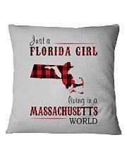 JUST A FLORIDA GIRL IN A MASSACHUSETTS WORLD Square Pillowcase thumbnail