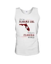 JUST AN ALABAMA GIRL IN A FLORIDA WORLD Unisex Tank thumbnail