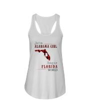JUST AN ALABAMA GIRL IN A FLORIDA WORLD Ladies Flowy Tank thumbnail