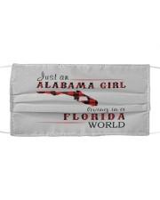 JUST AN ALABAMA GIRL IN A FLORIDA WORLD Cloth face mask thumbnail