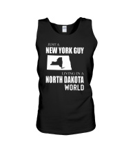 JUST A NEW YORK GUY IN A NORTH DAKOTA WORLD Unisex Tank thumbnail