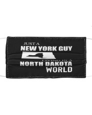 JUST A NEW YORK GUY IN A NORTH DAKOTA WORLD Cloth face mask thumbnail