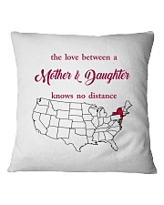 NEW JERSEY NEW YORK THE LOVE MOTHER AND DAUGHTER Square Pillowcase thumbnail