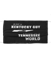 JUST A KENTUCKY GUY IN A TENNESSEE WORLD Cloth face mask thumbnail