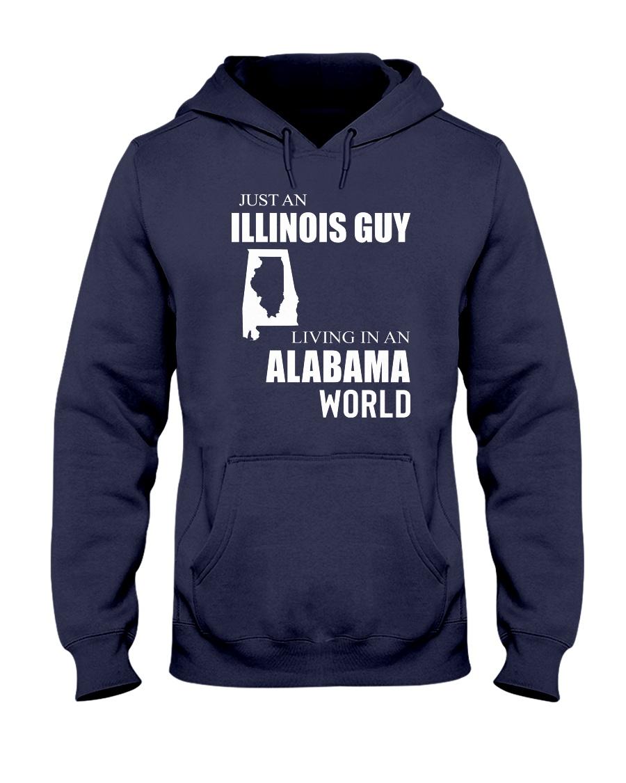 JUST AN ILLINOIS GUY IN AN ALABAMA WORLD Hooded Sweatshirt