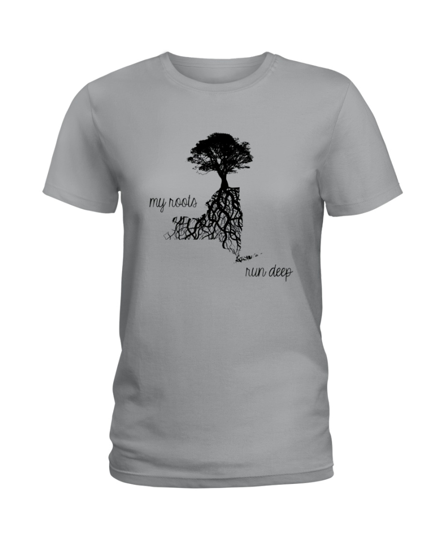 NEW YORK MY ROOTS RUN DEEP Ladies T-Shirt