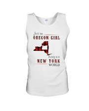 JUST AN OREGON GIRL IN A NEW YORK WORLD Unisex Tank thumbnail