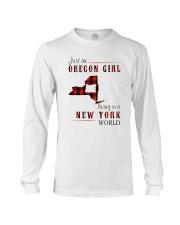 JUST AN OREGON GIRL IN A NEW YORK WORLD Long Sleeve Tee thumbnail