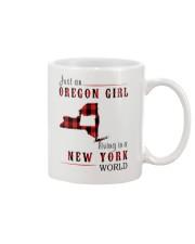 JUST AN OREGON GIRL IN A NEW YORK WORLD Mug thumbnail