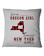 JUST AN OREGON GIRL IN A NEW YORK WORLD Square Pillowcase thumbnail