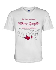 MISSISSIPPI TEXAS THE LOVE FATHER AND DAUGHTER V-Neck T-Shirt thumbnail