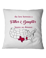 MISSISSIPPI TEXAS THE LOVE FATHER AND DAUGHTER Square Pillowcase thumbnail