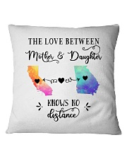 CALIFORNIA GEORGIA THE LOVE MOTHER AND DAUGHTER Square Pillowcase thumbnail