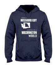 JUST A MISSOURI GUY IN A WASHINGTON WORLD Hooded Sweatshirt front
