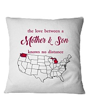 WASHINGTON MICHIGAN THE LOVE MOTHER AND SON Square Pillowcase thumbnail