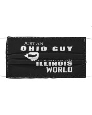 JUST AN OHIO GUY IN AN ILLINOIS WORLD Cloth face mask thumbnail
