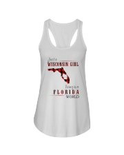 JUST A WISCONSIN GIRL IN A FLORIDA WORLD Ladies Flowy Tank thumbnail