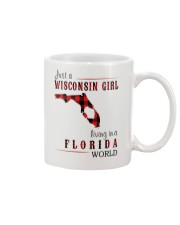 JUST A WISCONSIN GIRL IN A FLORIDA WORLD Mug tile