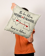 """TEXAS MISSOURI THE LOVE MOTHER AND DAUGHTER Indoor Pillow - 16"""" x 16"""" aos-decorative-pillow-lifestyle-front-02"""