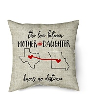 """TEXAS MISSOURI THE LOVE MOTHER AND DAUGHTER Indoor Pillow - 16"""" x 16"""" back"""